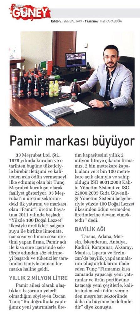 Sabah Gazetesi'nde 23.06.2015 tarihinde yayınlanan haber.