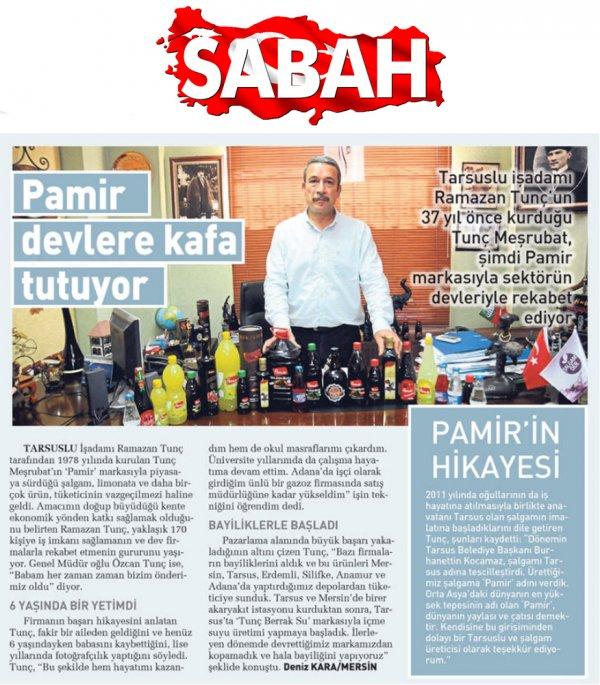 Sabah Gazetesi'nde 12.07.2015 tarihinde yayınlanan haber.